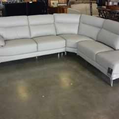 8 Piece Leather Sectional Sofa 96 Slipcover New Grey Modern 3 With Chrome