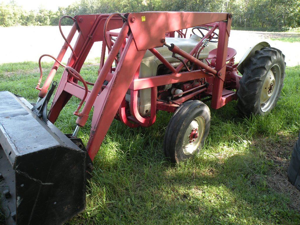 medium resolution of  image 2 1953 ford jubilee tractor 3 pt pto with loader and