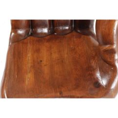 Wood Hand Chair Sash Buckles Carved Wooden