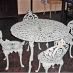 Antique Cast Iron Garden Table And Chairs Chair Covers Bows Hire Vintage Patio Set Is 26 X 39 Four 32 Image 1