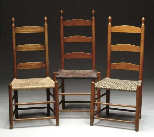 antique ladder back chairs with rush seats office uk review three shaker loading zoom