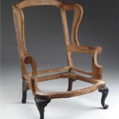Queen Anne Wing Chair Steel Models 18th Century Carved Frame Image 1