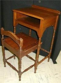 Antique Telephone Table w/Separate Chair