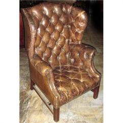 White Leather Wingback Chair Folding Lyrics Meaning 19th C French Tufted 889764 Image 1