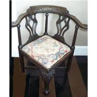 Antique Corner Chair English Smoking Chair #1210167