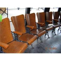ANTIQUE THEATER CHAIRS--SET OF 11--TIGER OAK #1249359