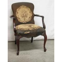 Victorian Tapestry Arm Chair Late 19th C