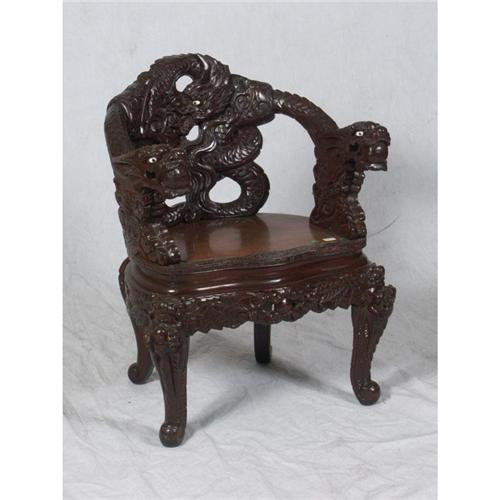 folding chair auction black crushed velvet bedroom antique chinese dragon | furniture