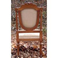 Antique French furniture embroidered chairs