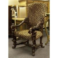 ITALIAN VENETIAN BAROQUE DESK CHAIR BLACKAMOOR