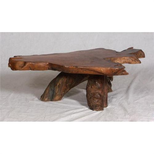 SOLID WOOD SLAB NATURAL WOOD COFFEE TABLE