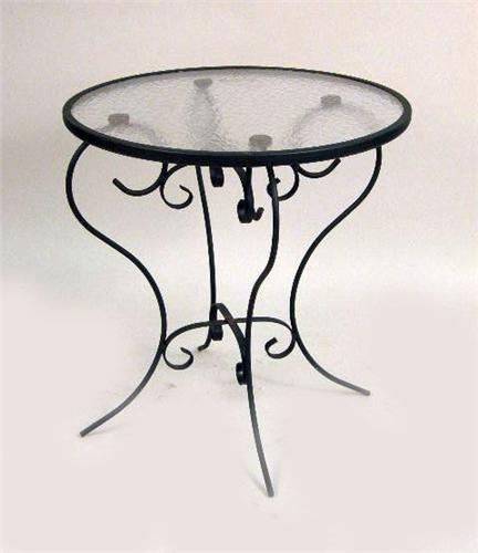 ice cream parlor table and chairs new herman miller aeron chair review a modern wrought-iron glass-topped