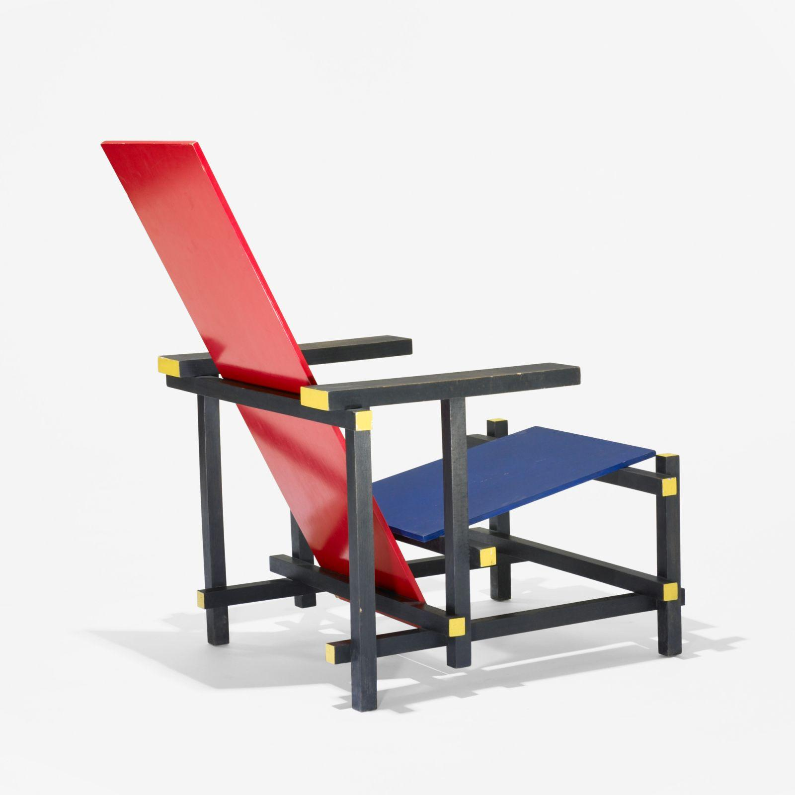 red blue chair accent sets gerrit rietveld