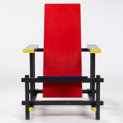 Red Blue Chair Massage Relief Gerrit Rietveld