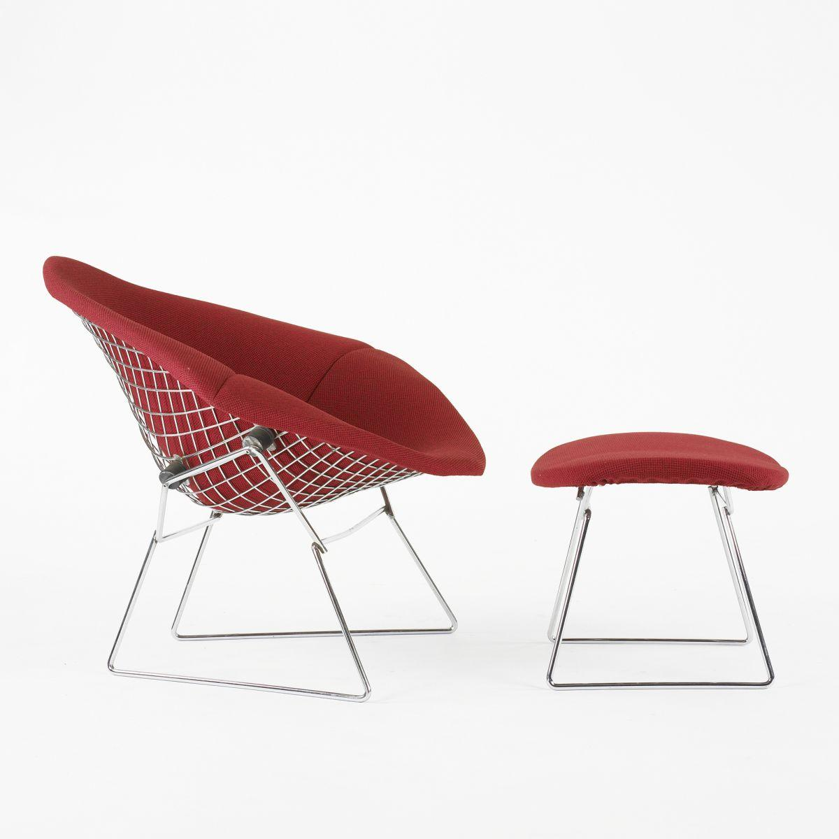 Harry Bertoia Chair Harry Bertoia Wide Diamond Chair And Ottoman
