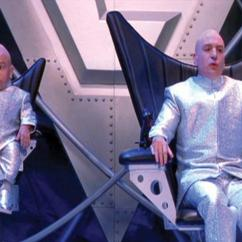 Dr Evil Chair Rocking Classic Mike Myers Silver Suit From Austin Powers The Spy Who Image 2