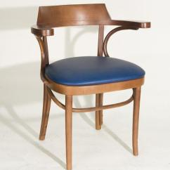 Vintage Bentwood Chairs Red Wingback Chair Slipcover Thonet Style Arm Vinyl Seat Blue Image 1
