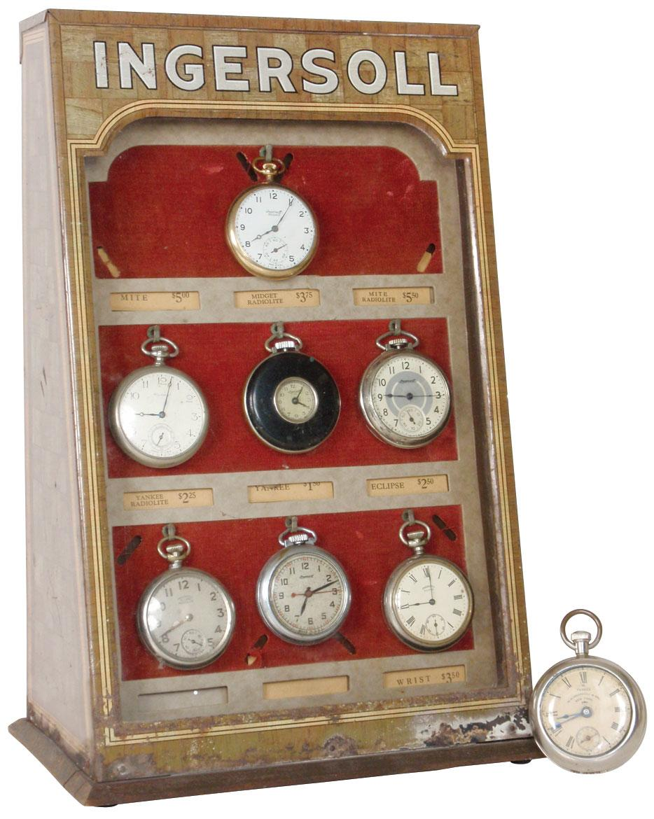 Ingersoll Pocket Watch Display With8 Pockets