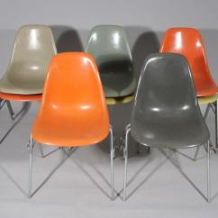 Herman Miller Stacking Chairs Wedding Chair Covers Pictures A Set Of Eight Charles Eames For Fiberglass Loading Zoom