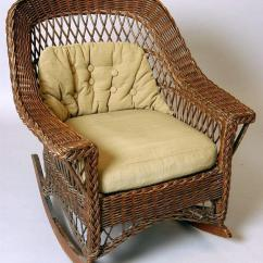 Heywood Wakefield Wicker Chairs Grey And Yellow Accent Chair A Mid Century Modern Rocking In Original Finish Loading Zoom