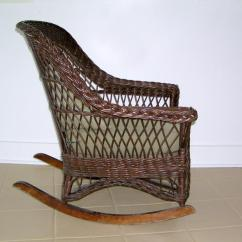 Heywood Wakefield Wicker Chairs Oak Round Dining Table 6 A Mid Century Modern Rocking Chair In Image 2 Original Finish