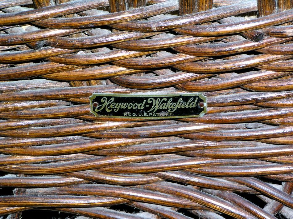 heywood wakefield wicker chairs where to get reupholstered a mid century modern rocking chair in image 3 original finish