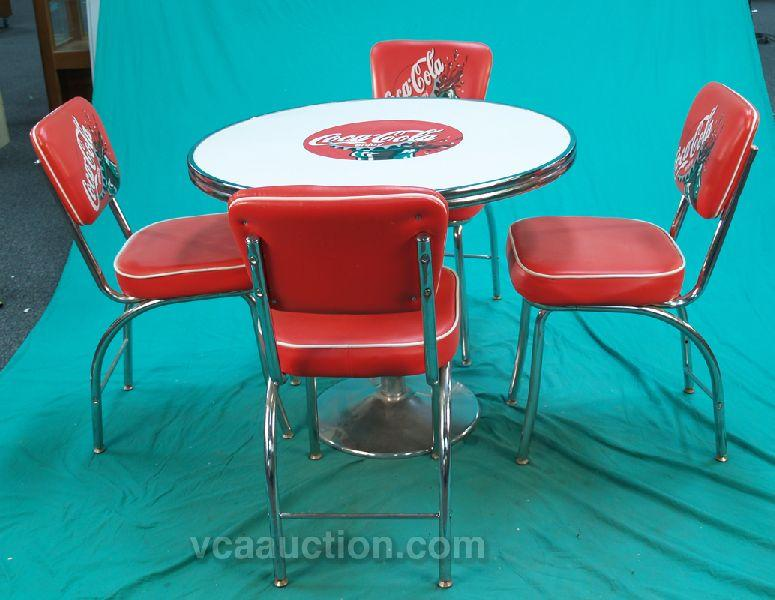 coca cola chairs and tables baleri italia ball chair 50 s diner style table 4 image 1