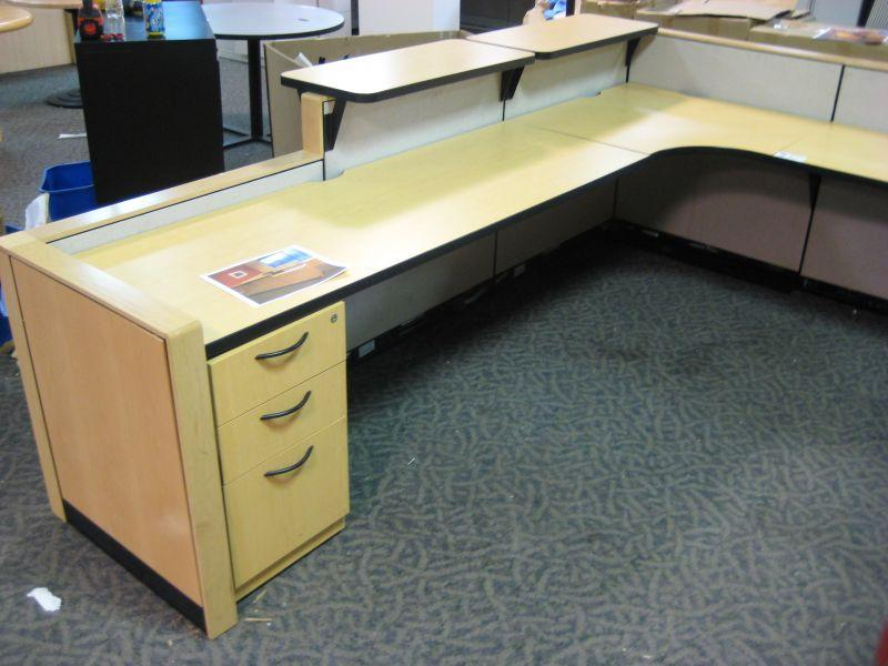 Steelcase U Shaped Reception Desk Able Auctions