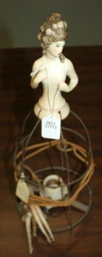 Antique Fulper Bisque Doll Lamp