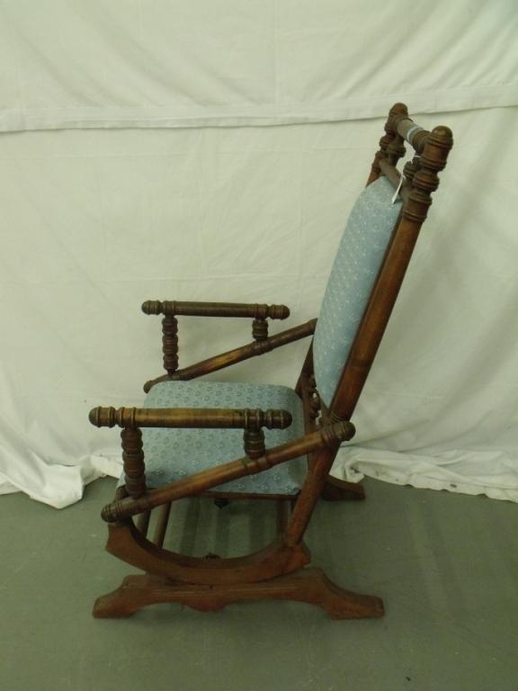 antique platform rocking chair with springs ghost chairs for sale urban home interior vintage rh icollector com childs