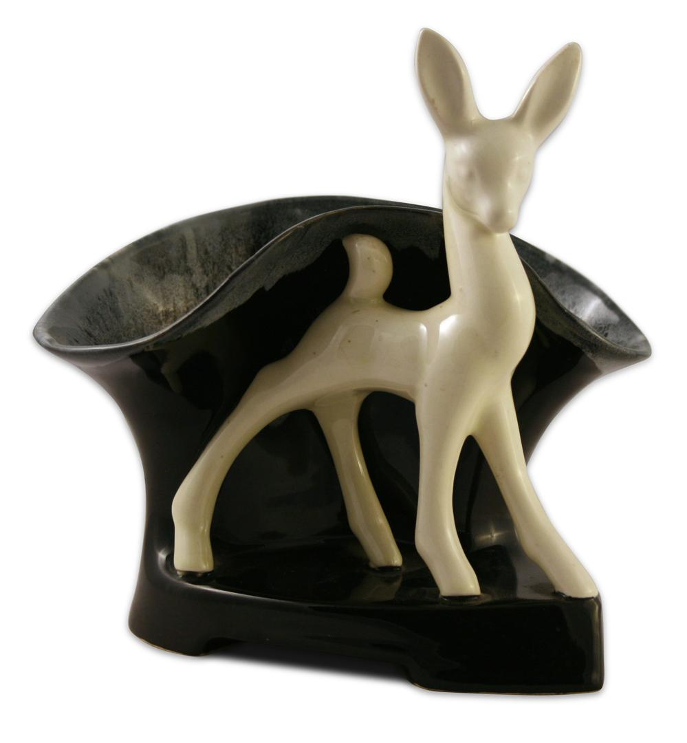 Beauceware Ceramic Art Deco Deer Planter