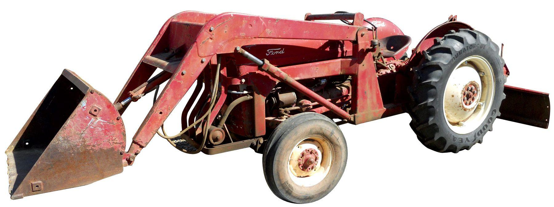 small resolution of image 1 tractor ford jubilee w front end loader rear blade attachment