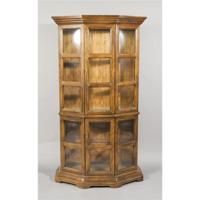 Vintage Wood and Glass Curio Cabinet