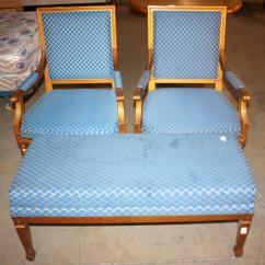 Chair And Matching Stool Portable Lawn Chairs Bench