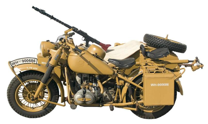 Image 8 Extremely Rare Wwii Military Bmw R75 Motorcycle And Sidecar
