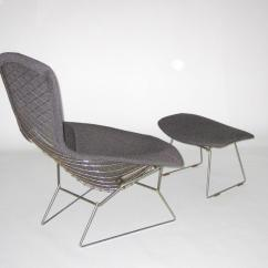 Knoll Bertoia Chair Lounge Shampoo Harry For Bird With Ottoman C 1950
