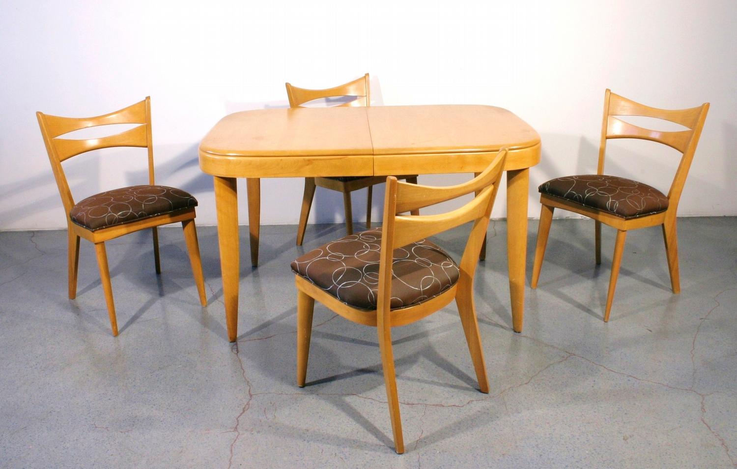 heywood wakefield dining table and chairs chair covers for sale australia room ideas