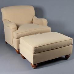 Microfiber Club Chair With Ottoman Comfortable Office Ethan Allen And Image 1