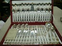 SILVER PLATED CUTLERY SET MADE IN ITALY