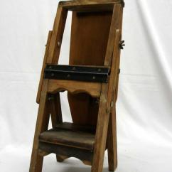 Chair Step Stool Ironing Board Camo Rocking Antique Saleman S Sample Wood Ladder Loading Zoom