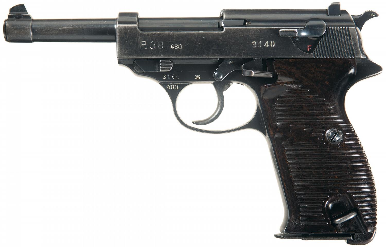 Rare Early Wwii Walther 480 Code -38 Semi-automatic Pistol