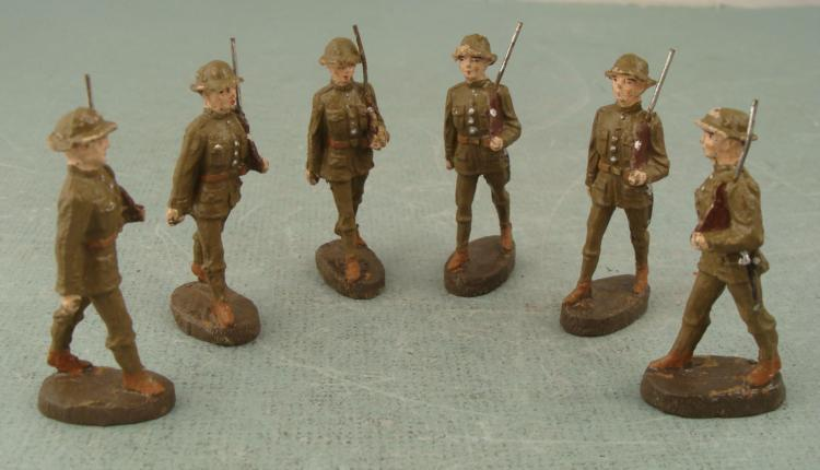 Pre Wwii Elastolin German Made Comp Toy Soldiers Us