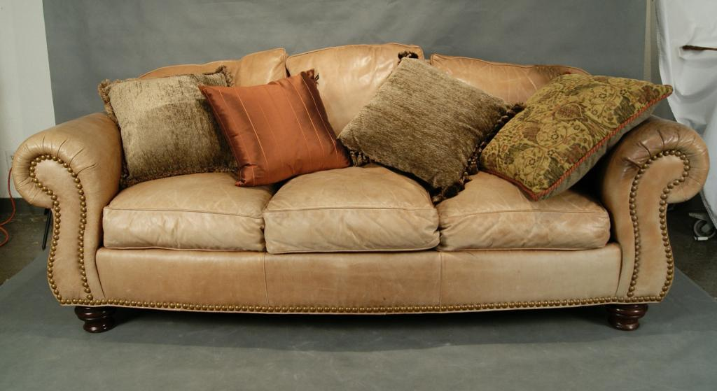 thomasville leather chair portable cloth high canada sofa tan loading zoom
