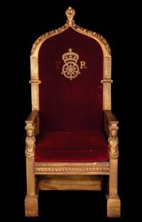 The Virgin Queen monumental royal dining table throne of ...