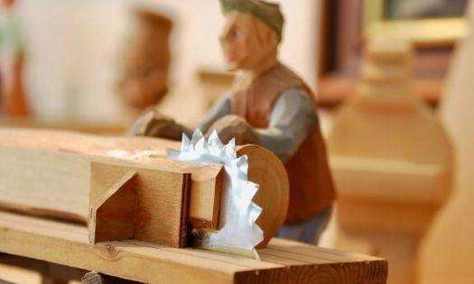 träfigur sågverk