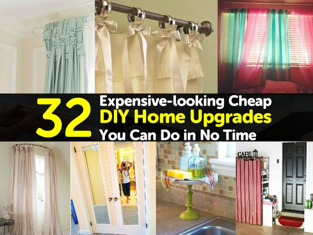 32 Expensivelooking Cheap DIY Home Upgrades You Can Do in