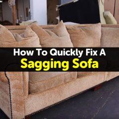 Sagging Sofa Big Cushions Online India How To Quickly Fix A