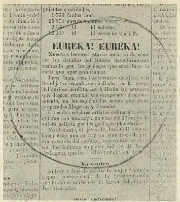 La publicación del diario La Capital de 1877.