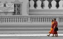 Utanför kungliga palatset, Phnom Penh