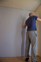 Den babyblå väggen är nu borta :)